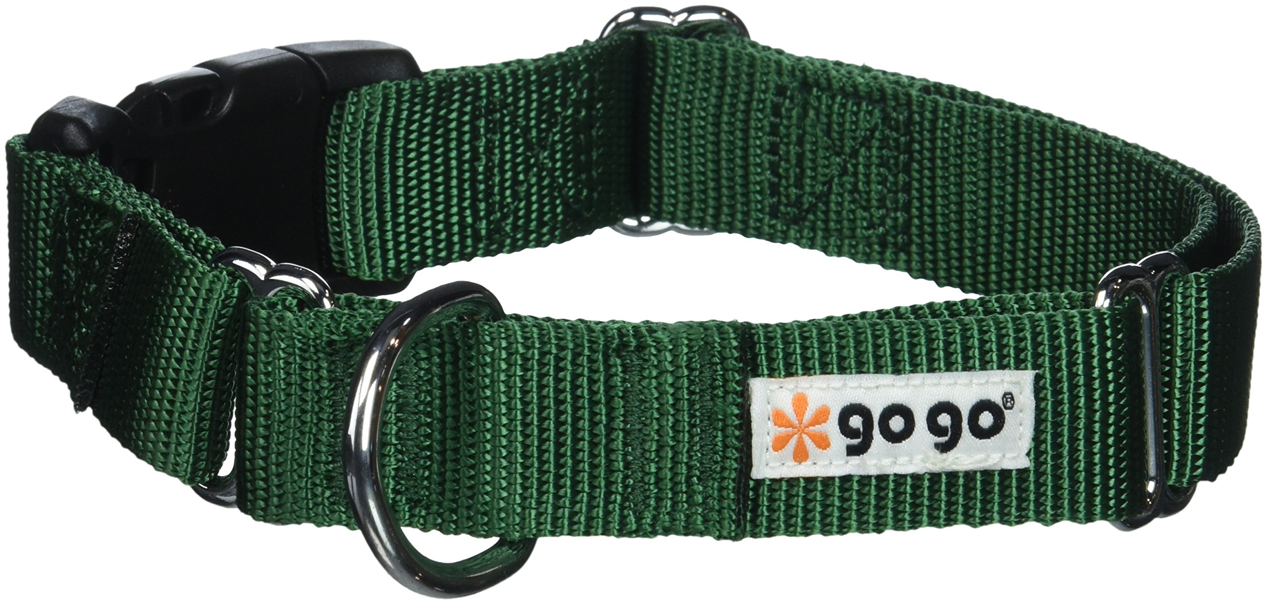GoGo Pet Products Martingale Gentle Training Collar, Medium/Large, Hunter Green