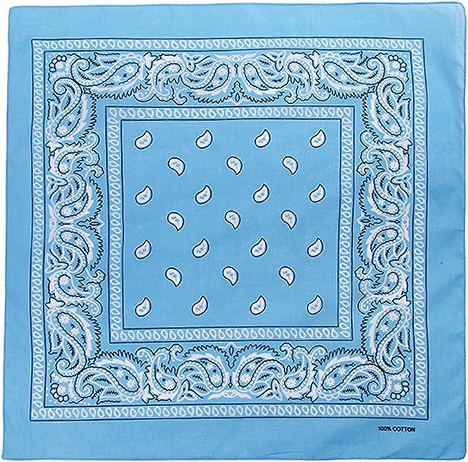 DV 100/% Coton Grande plaine Bandana Tête Écharpe chefs Cravate Bracelet Wrap DV204