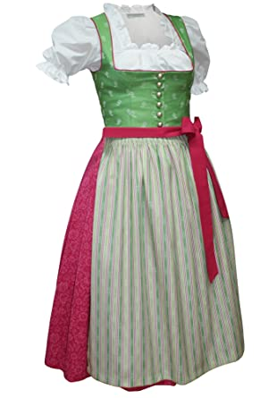 Kleid grun rosa
