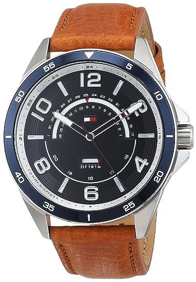Tommy Hilfiger Reloj Multiesfera para Hombre de Cuarzo con Correa en Cuero 1791391: Tommy Hilfiger: Amazon.es: Relojes