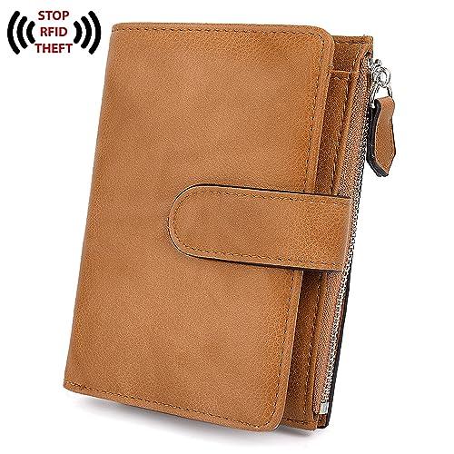 2a6919419d10 UTO RFID Wallet for Women Blocking Tech PU Matte Leather Card Zipper Holder  Coin Purse Small Version