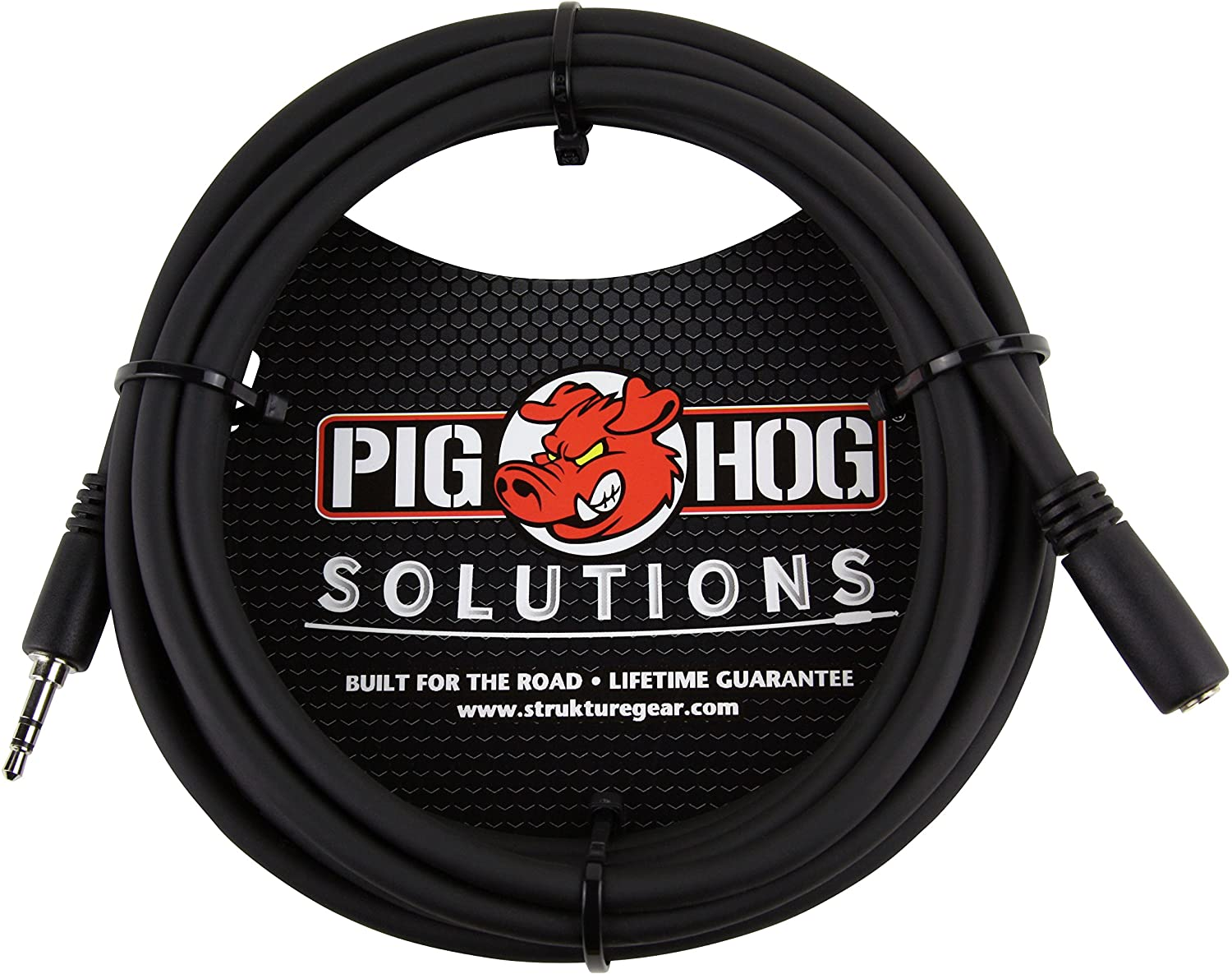 Pig Hog PHX35-10 3.5mm TRSF to 3.5mm TRSM Headphone Extension Cable 10 Feet