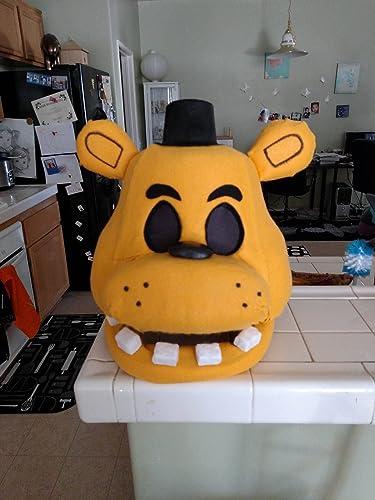 Amazon.com: Golden Freddy FNAF Halloween/Costume Mask! Movable Jaw ...