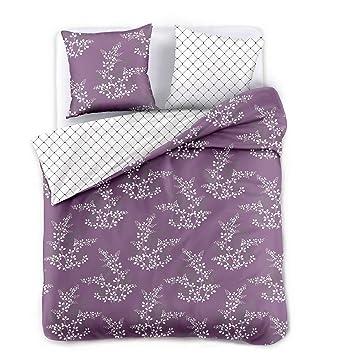 Decoking Premium 91913 200x220 Cm Mit 2 Kissenbezügen 80x80 Violett