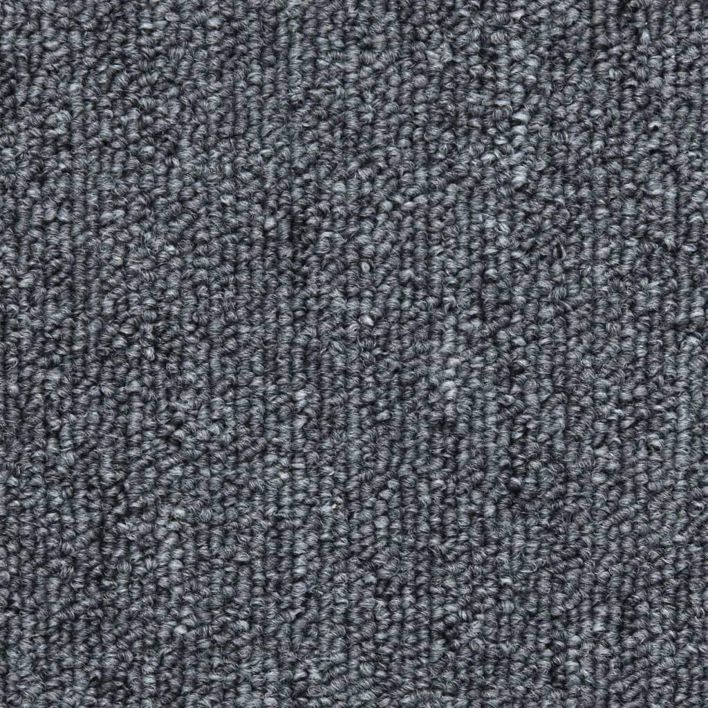 vidaXL 15x Stair Mats Two-sided Adhesive Tapes Step Carpet Tread Rug Protector Dark Grey 56x17x3cm