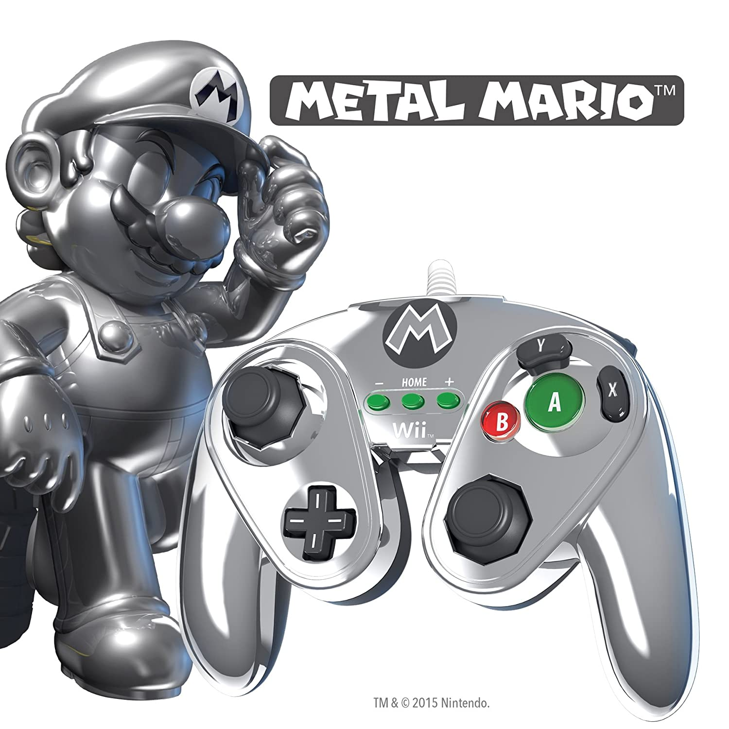 PDP Wired Fight Pad - Metal Mario (Nintendo Wii U): Amazon.co.uk: PC ...