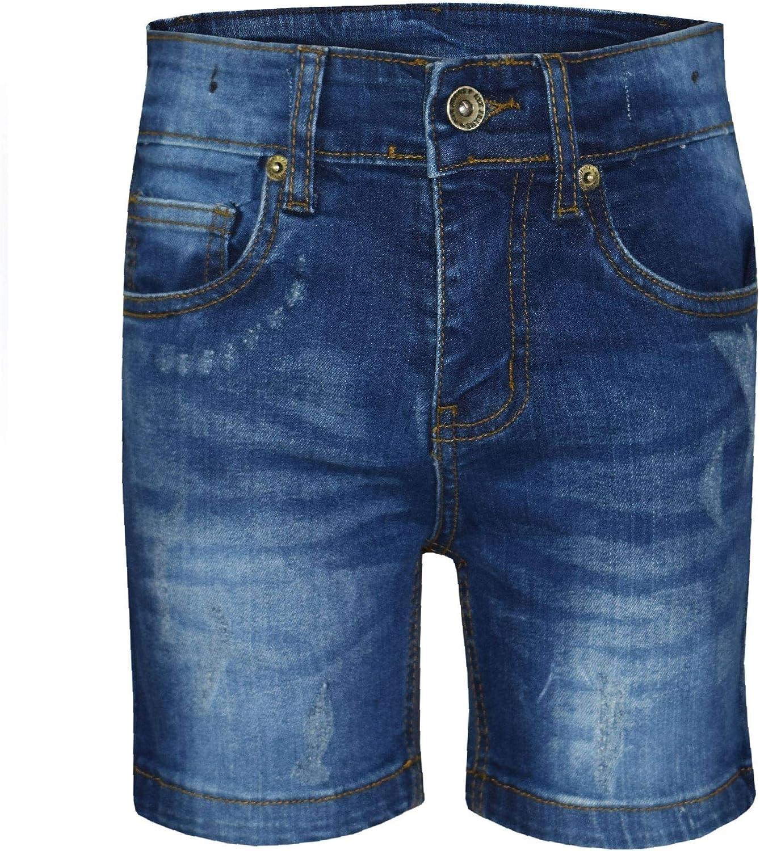 Kids Girls Boys Shorts Denim Ripped Blue Chino Bermuda Jeans Short Half Pants