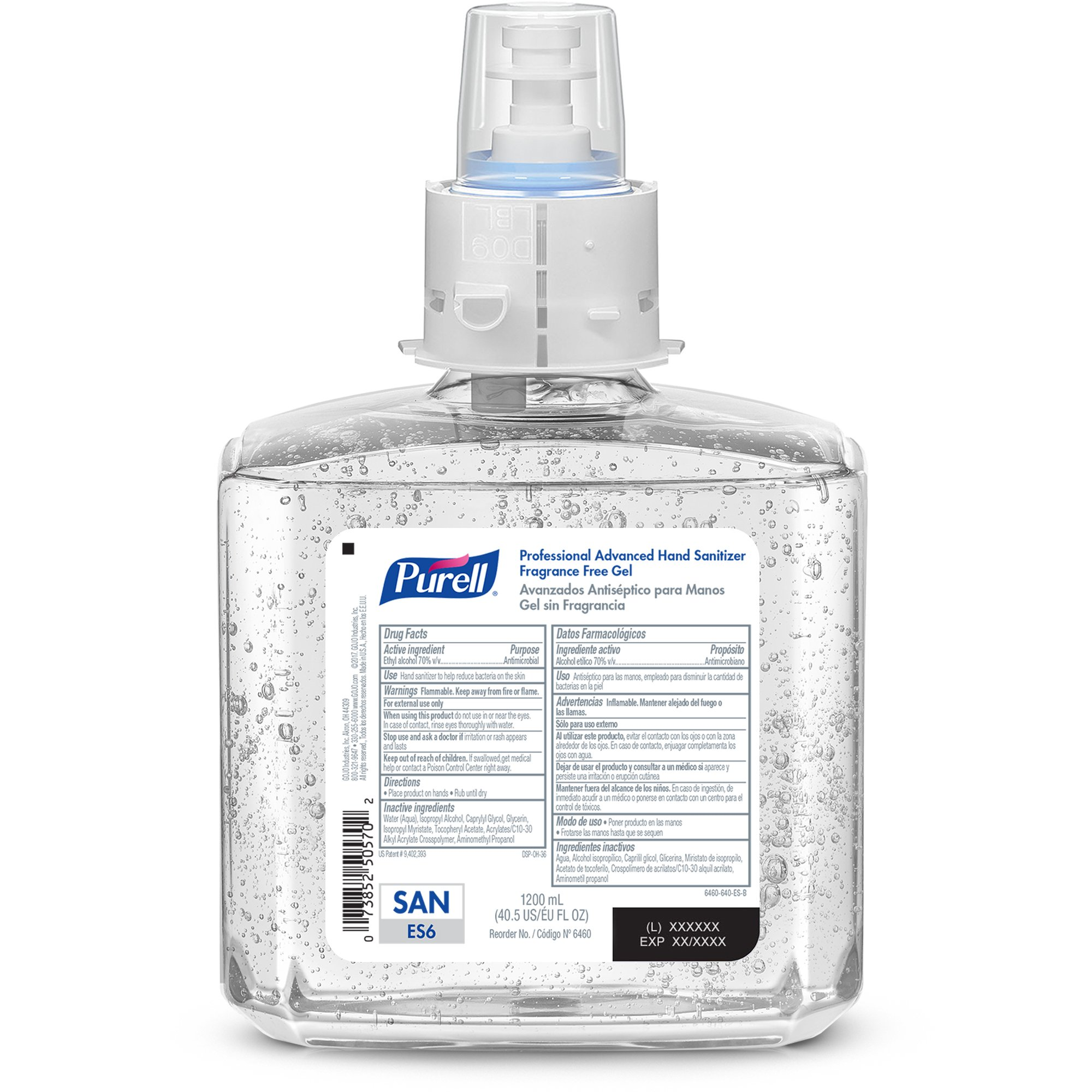 PURELL ES6 Professional Advanced Hand Sanitizer Gel Refill, Fragrance Free, 1200 mL Sanitizer Refill for PURELL ES6 Touch-Free Dispenser (Pack of 2) -  6460-02 by Purell (Image #2)