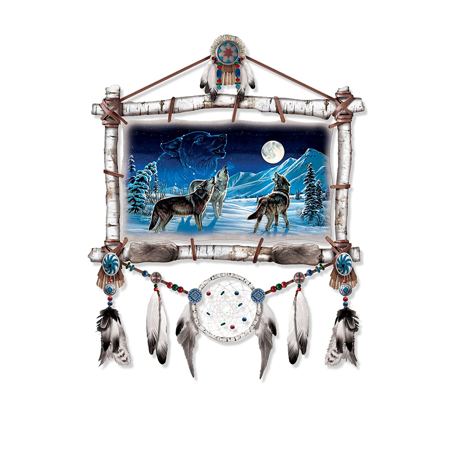 'Starlight Serenade' Wolf Wall Décor By The Bradford Exchange