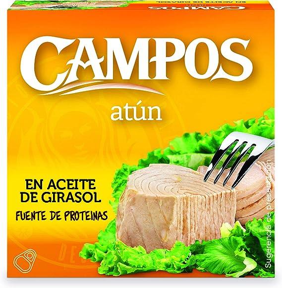 CAMPOS, conservas de atún en aceite de girasol 80 g
