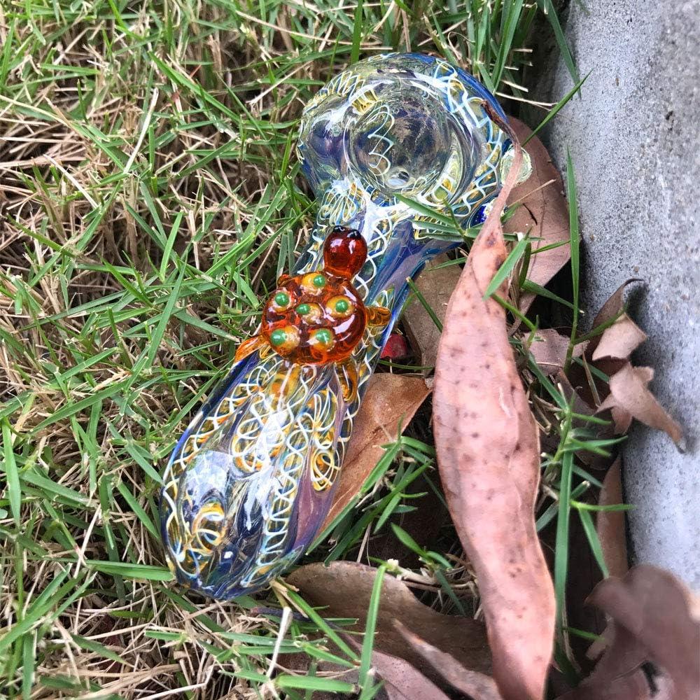 Morgan Sam 4 Inch Long Cute Fun Turtle Design Reusable Heat Resistant Glass