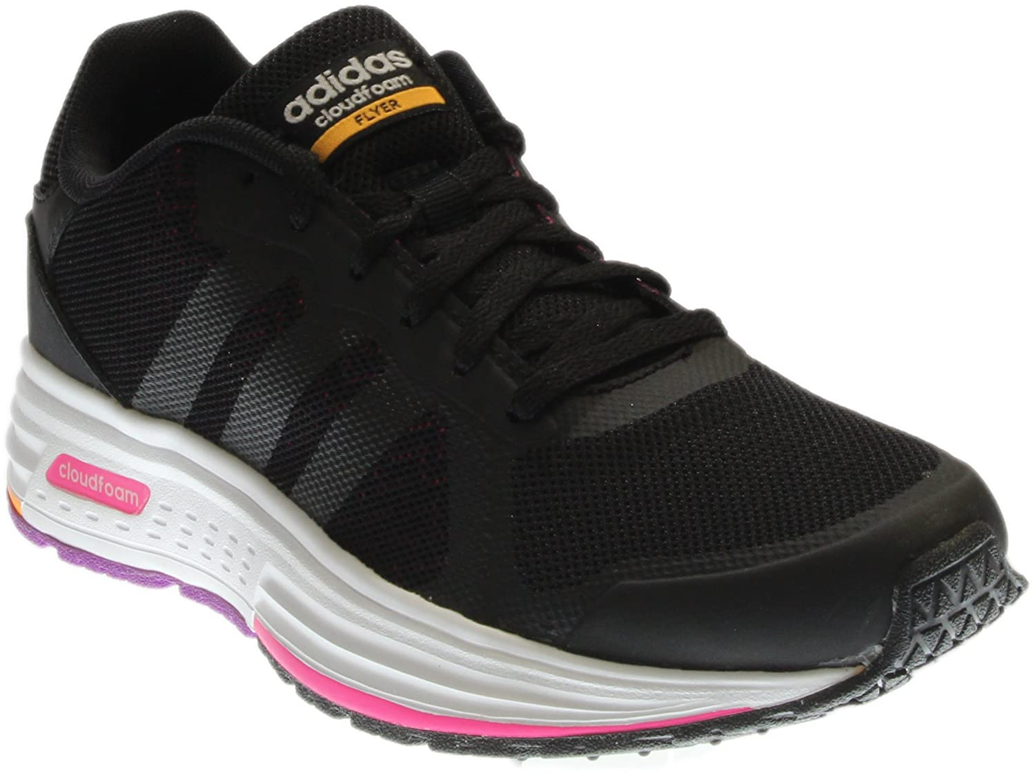 info for half off good selling adidas NEO adidas Women's Cloudfoam Flyer Black/Shock Pink ...