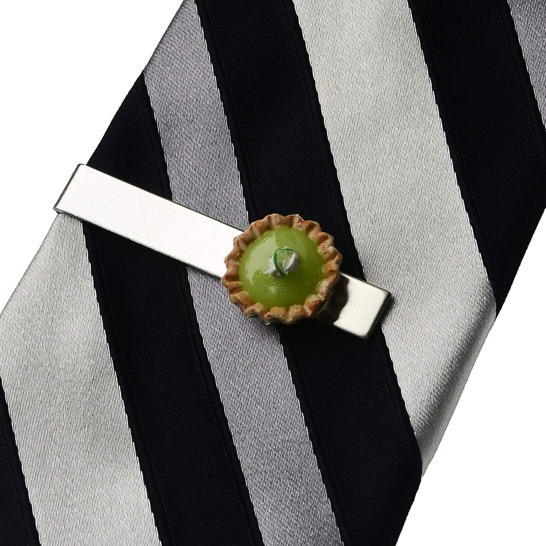 Key Lime Pie Tie Clip