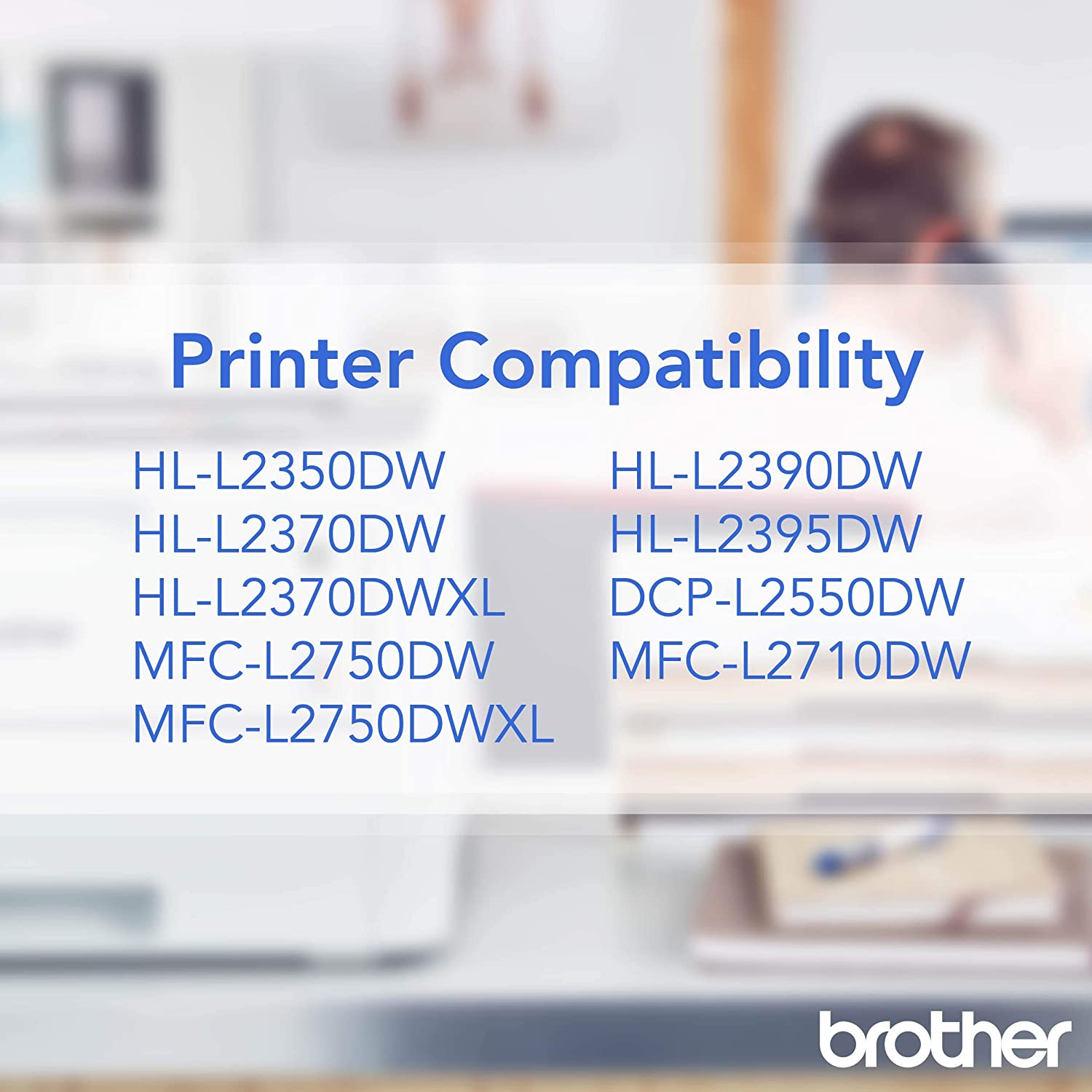 Brother TN-730 DCP-L2510 L2530 L2550 HL-L2310 L2350 L2370 L2375 L2390 MFC-L2710 L2713 L2715 L2717 L2730 L2750 Toner Catridge (Black) in Retail Packaging