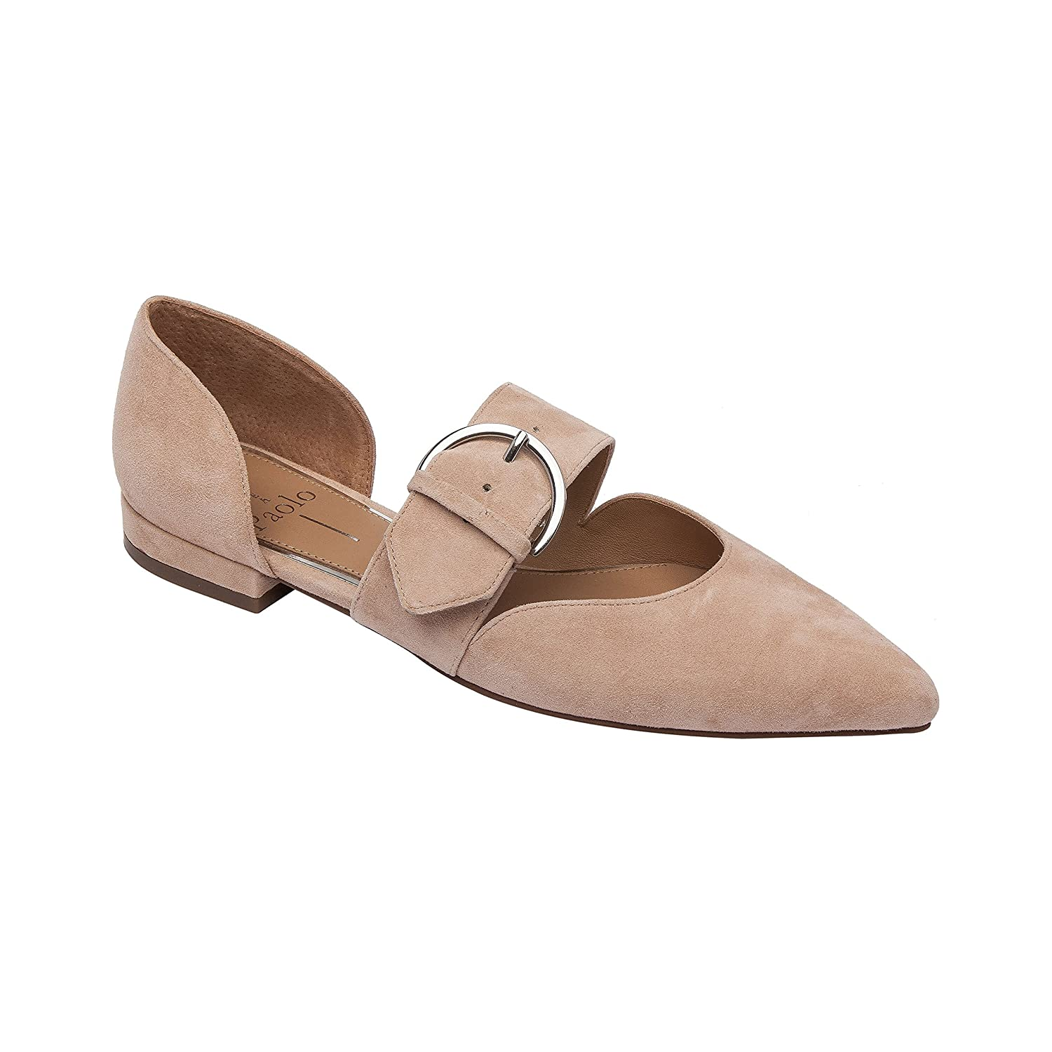 Dean | Women's Two Piece Pointy Toe Comfortable Leather or Suede Ballet Flat B07DM9269N 9.5 M US|Blush Suede