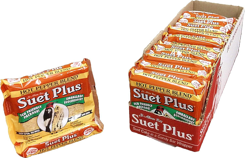 Suet Cakes for Wild Birds 12 Pack | 11 oz Suet Plus Suet Cakes