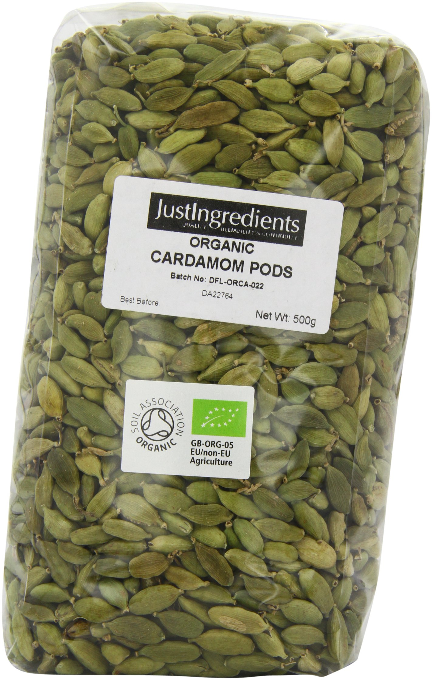 JustIngredients Organic Cardamom Pods Loose 500 g