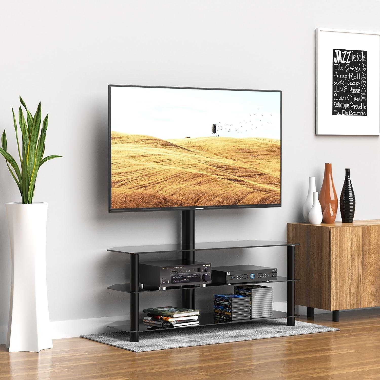 1home TV St/änder Standfu/ß Fernseher Fernsehtisch mit Halterung f/ür 36-42 Zoll Schwenkbar