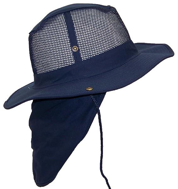 3f719e8e4403d Tropic Hats Summer Wide Brim Mesh Safari Outback W Neck Flap   Snap ...