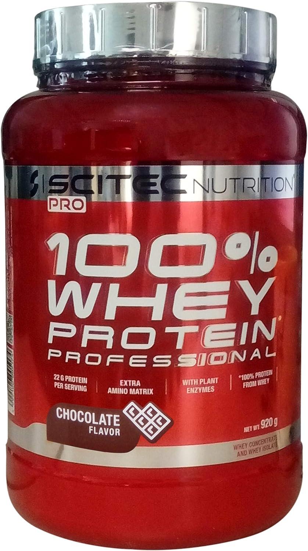 SCITEC NUTRITION 100% Whey Protein 920g Profesional proteína en polvo Polvo de tonificación muscular de suero de leche concentrado de proteína de ...
