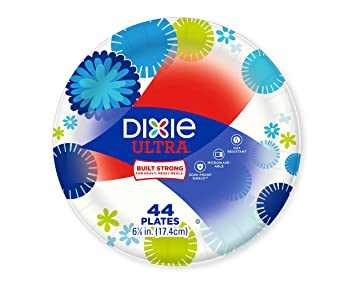 Dixie Ultra Small Paper Plates 44 Count Dessert Size (6 7/8 Inch  sc 1 st  Amazon.com : small disposable plates - pezcame.com