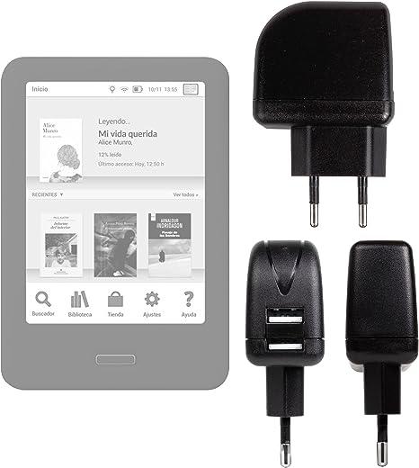 DURAGADGET Cargador (2 Amperios) para Libro electrónico BQ ...