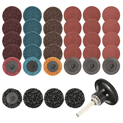 35Pcs Sanding Discs Set 2 Inch Quick Change DiscsSurface Conditioning With