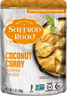 product image for Saffron Road Simmer Sauce Coconut Curry, 7 Ounce (Pack of 8) - Non-GMO, Gluten-Free, Halal, Kosher
