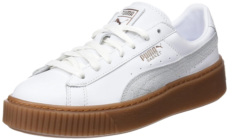Puma Basket Platform Euphoria Gum, Zapatillas para Mujer 42 EU|Blanco (Puma White-rose Gold)