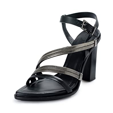 4cebae74ca Image Unavailable. Image not available for. Color: Versace Versus Women's  Strappy High Heels Sandals ...