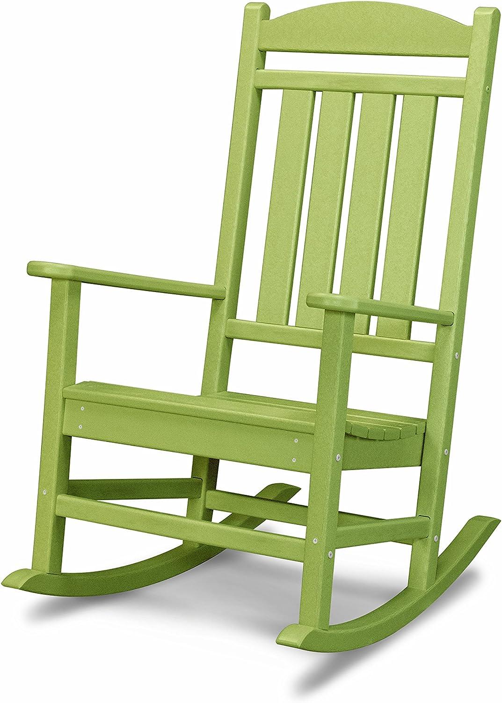 POLYWOOD R100LI Presidential Rocking Chair, Lime