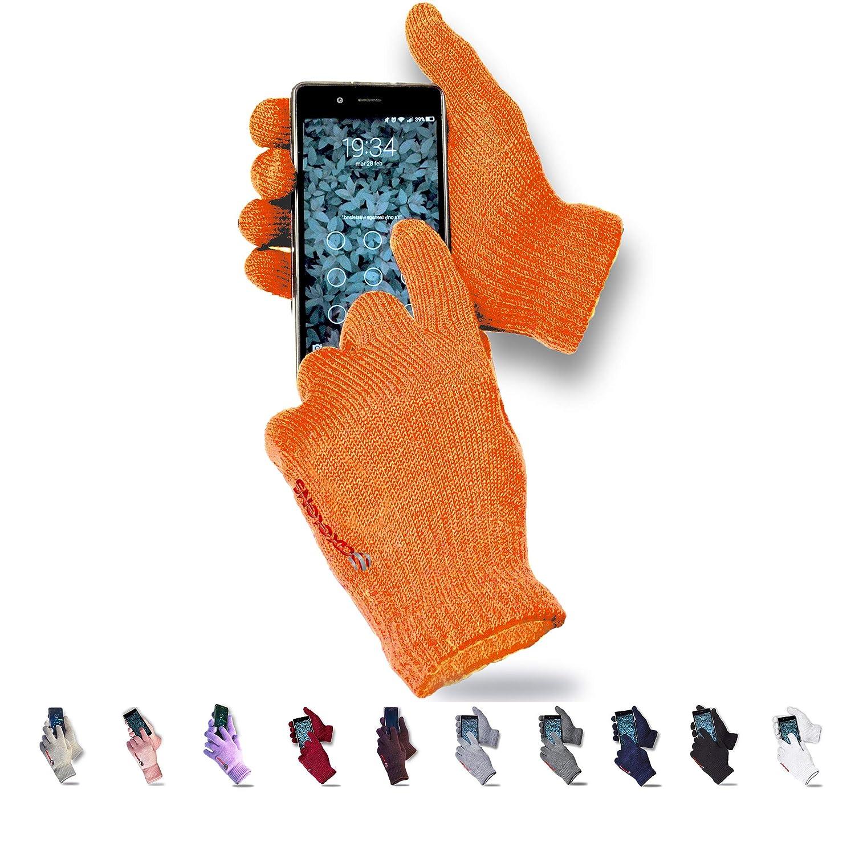 AXELENS Guanti Touch Screen Tattili Invernali Morbidezza e Calore Unisex Interno Felpato per Smartphone Cellulari e Tablet Lilla