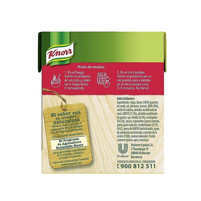 Knorr Salsa Para Cocinar Líquida Carbonara 300Ml (Pack De 12 X ...