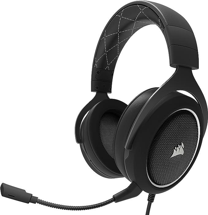 Corsair CA-9011174-EU HS60 Surround - Auriculares gaming, negro y blanco + Corsair ST100 RGB Premium Interior - Soporte para auriculares (Interior, ...