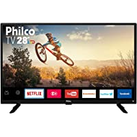 "TV Monitor Smart LED 28"" HD Philco PTV28G50SN com Wi-Fi, Netflix, Conversor Digital Integrado, Dolby Audio, Midiacast, Entradas HDMI e USB"