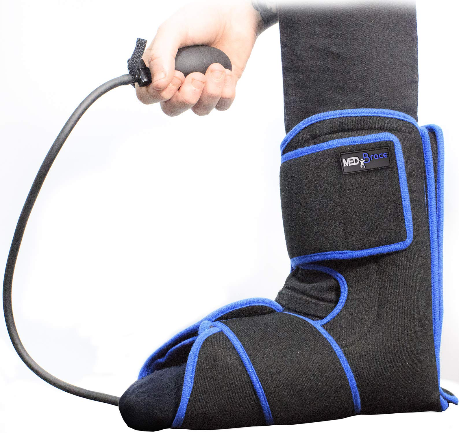 MEDiBrace Ankle Ice Gel Pack Cryotherapy Injury Cuff Superior Cold Compression Therapy for Sports Professionals Universal Fit
