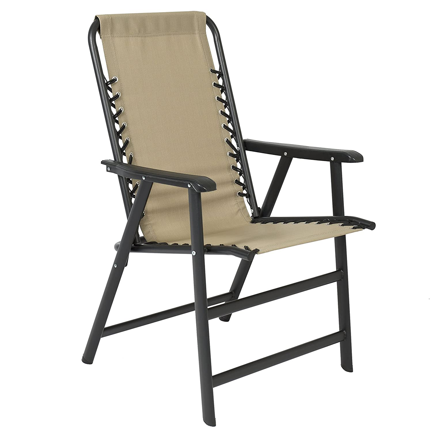 Best Choice Products Lounge Suspension Folding Chair Outdoor Patio UV Resista