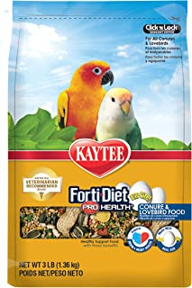product image for Kaytee Forti-Diet Pro Health Egg-Cite! Conure & Lovebird Food, 3-lb Bag