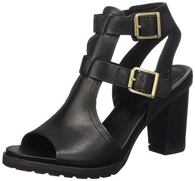 Timberland Women's Stratham Heights Sandal_Stratham Heights Sandal Open Toe Sandals  Black Size: 6.5 UK
