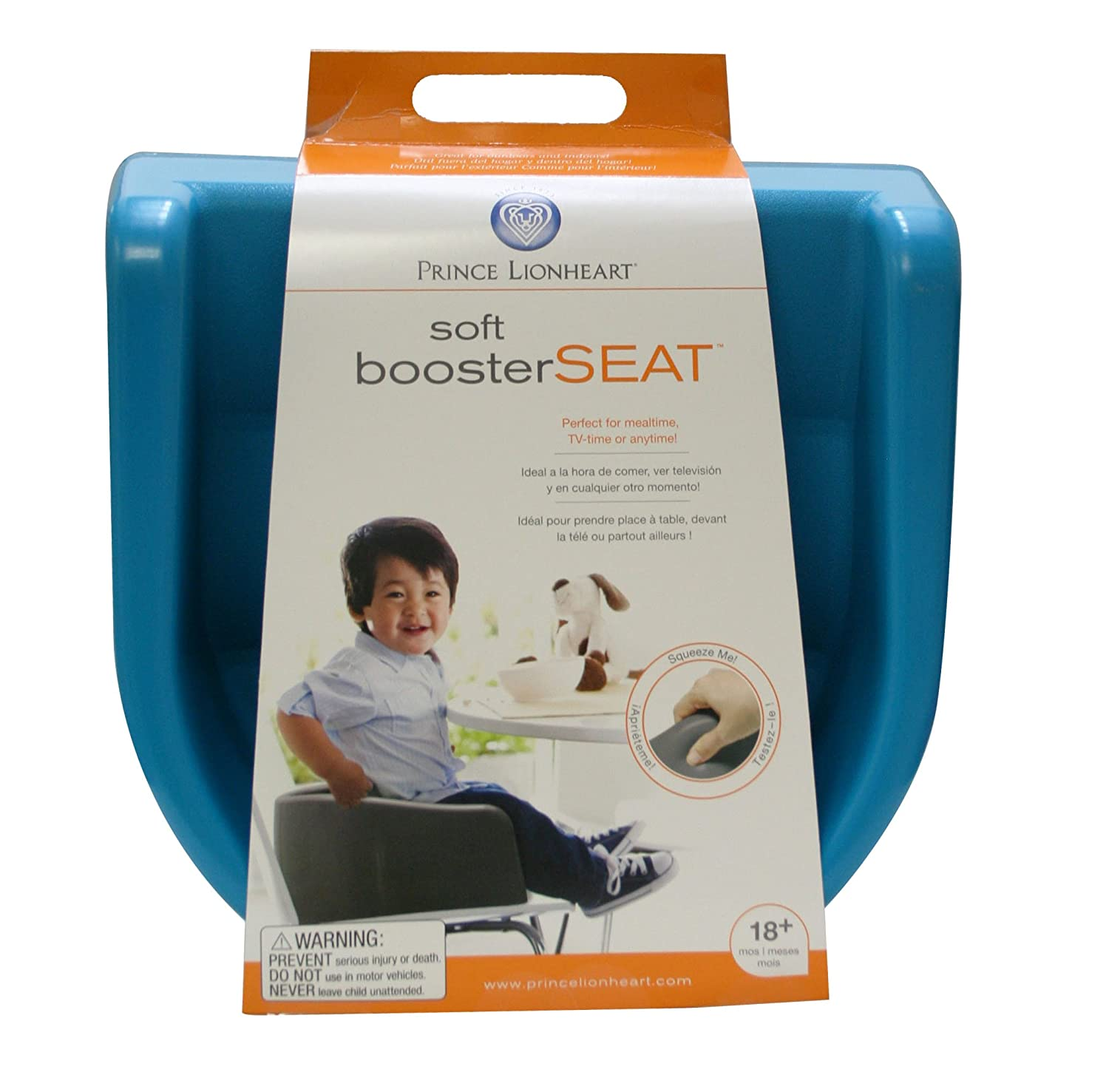 Prince Lionheart Soft Booster Seat Berry Blue