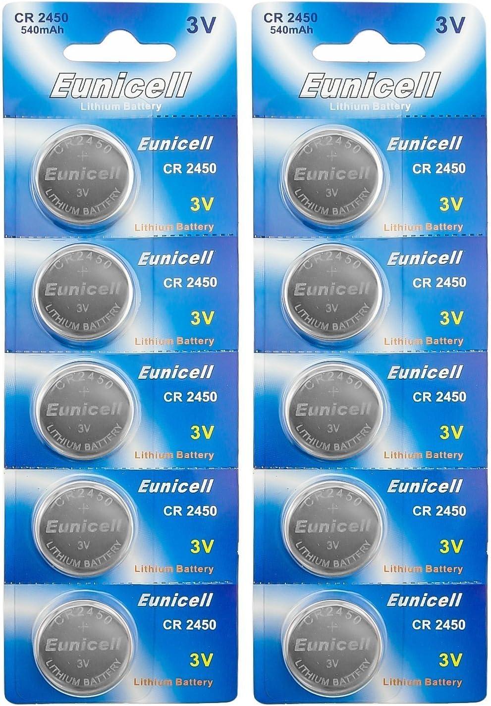 10 X Cr2450 2450 Cr Lithium Knopfzelle Batterie Akku Elektronik