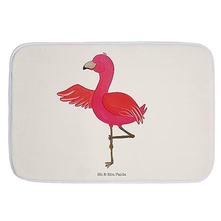 Mr Mrs Panda Badteppich Duschvorleger Badvorleger Flamingo