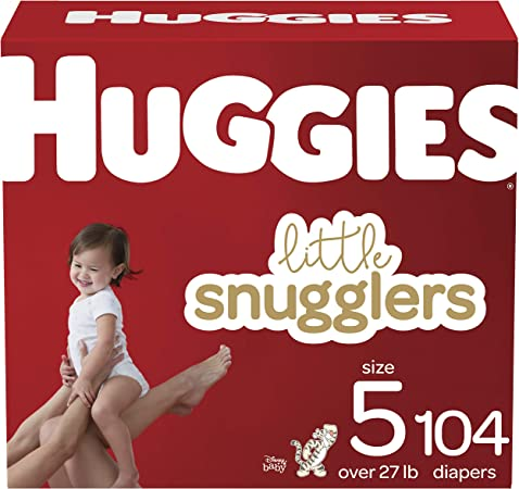 Huggies Little Snugglers Baby Diapers, Size 5, 104 Ct