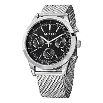 Amazon.com  SO CO New York Men s 5006A.1 Monticello Stainless Steel ... 52ebb71ae6