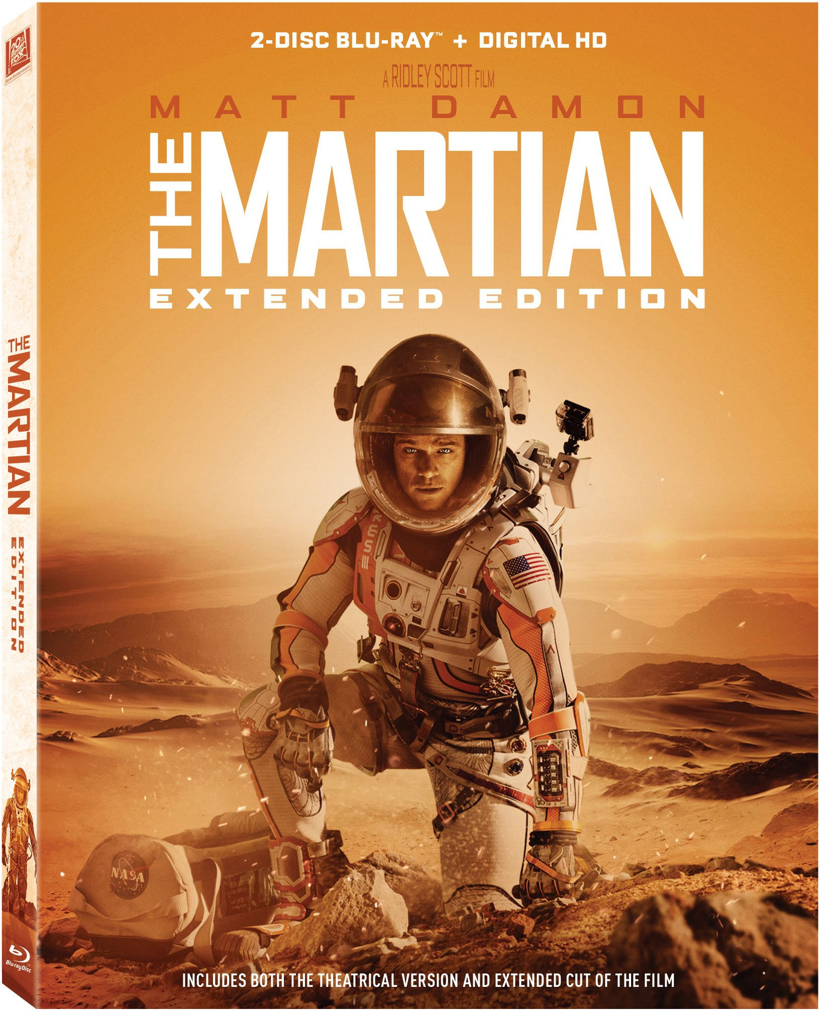 Blu-ray : The Martian (Extended Edition) (Extended Edition, , Digital Theater System, AC-3, Dolby)