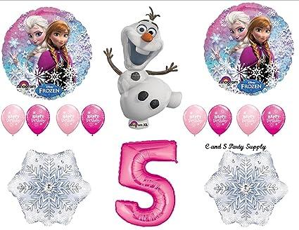 Amazon.com: Frozen Rosa 5th Disney Película Fiesta De ...