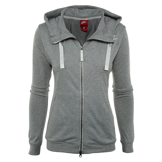 b98ca8eaacba Nike Sportswear Gym Classic Full Zip Hoodie Womens Style   924081 ...