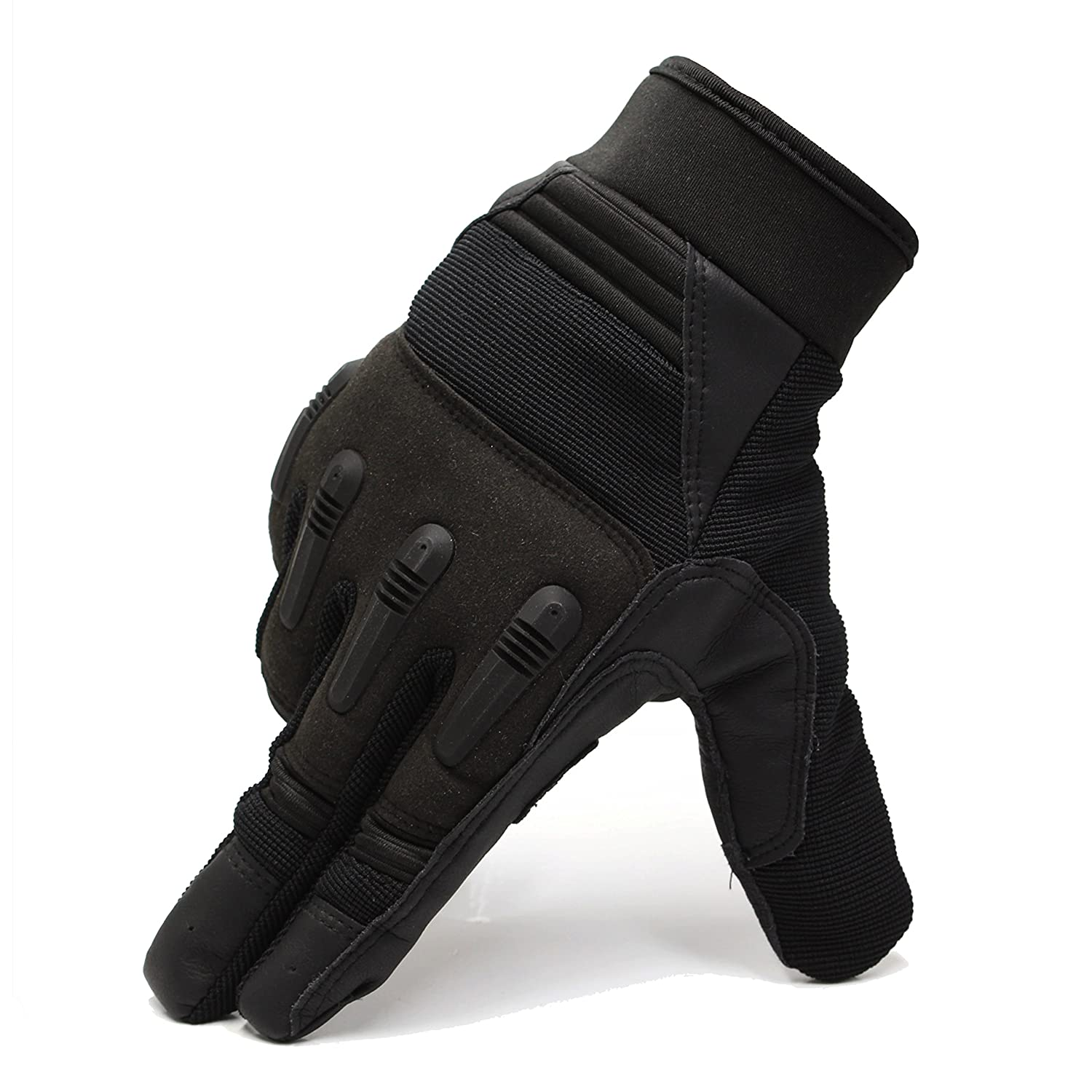 Touch Screen Sport Men Leather Gloves for Winter with Joint Protection and Adjustable FRETOD