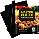 Grilling Mat - BBQ Accessories For Gas, Charcoal and Electric Grills - Easy to Clean, Reusable and Nonstick - Set of 3 Grill Mats
