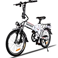 ANCHEER Folding Electric Bike with 36V 8Ah Removable Lithium-Ion Battery, 20 inch Ebike with 250W Motor and Shimano 7 Speed Shifter
